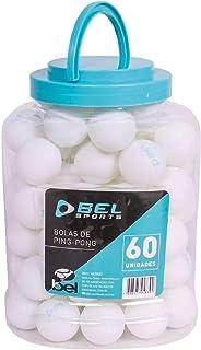Jogo com 60 Bolinhas de Ping-Pong Bel Fix Branco 60