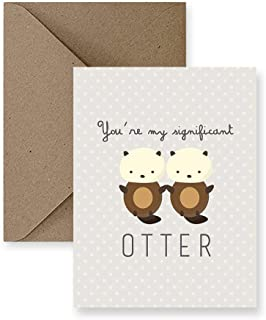 You're My Significant Otter Love Greeting Card, Anniversary Card