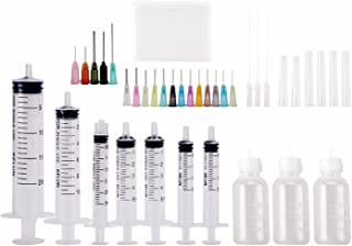 Dispensers Applicator Kit - Syringes,Plastic Squeeze Bottles and Needle Tips,Works for Precisely Delivery Grease,Oil Dispensing,Liquid Glue and Ink