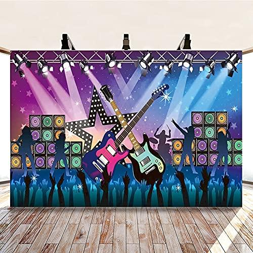 Gitarre Audio Musik Symbol Foto Hintergrund Familienfeier Tanzparty Fotografie Hintergrund Dekoration A1 9x6ft / 2.7x1.8m