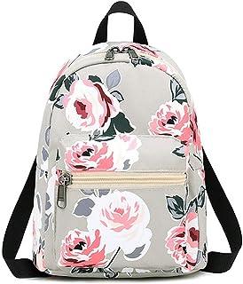 Beautiful-Day women school backpack Damen Mini-Rucksäcke aus Segeltuch, weich, Blumenmuster, kleine Taschen