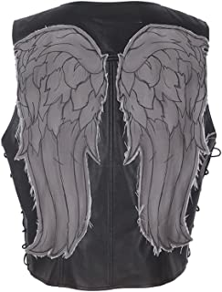 daryl dixon faux leather wings vest