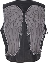 Cosplay.fm Men's Daryl Dixon Faux Leather Angel Wings Vest Halloween Costume