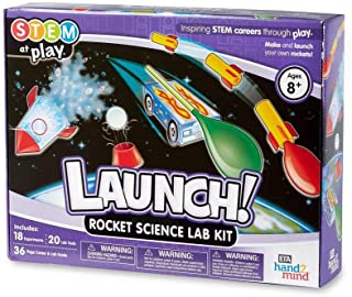 hand2mind Launch! Rocket Kids Science Kits, 18 STEM Experiments and Activities, Make Your Own Rocket and Solar System, Rocket Races | Educational Toys | STEM Authenticated