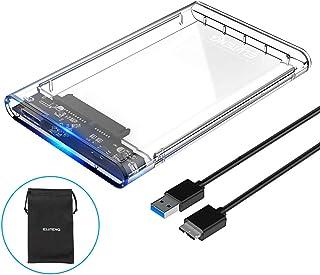 ELUTENG 2.5インチ HDD/SSD ケース USB 3.0 透明 外付け ハードディスク UASP対応 ps4 外付けhdd ポータブル USB SATA ドライブ ボックス 2TB Windows/Mac/PC/テレビ/PS4/PS3/XBox 等適用