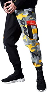 Pantaloni Cargo Multitasche da Uomo con Cuciture mimetiche Streetwear Moda Campeggio all'aperto Trend Pantaloni Casual Tag...