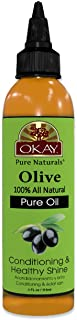 OKAY | 100% Pure Olive Oil | For All Hair Textures & Skin Types | Nourish, Strengthen & Replenish Elasticity | Deep Condit...