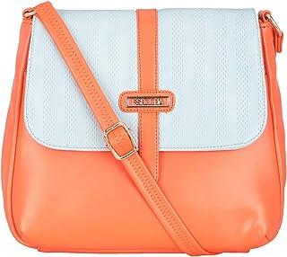 ESBEDA Orange Color Two Contrasting Colors Sling Bag For Women