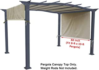 ALISUN Universal Replacement Canopy Top for 8' x 10' Pergola Structure - Beige (Size: 194