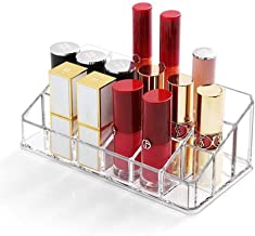 Lipstick Holder 18 Spaces Lipgloss Organizer, 3 Rows - Multi Level, Makeup Holder & Cosmetics Storage Display