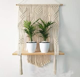 Woven Macrame Plant Hanger Wall Hanging Indoor Outdoor Plant Pot Basket Holder
