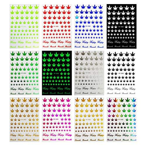 Pixnor Autocollants à Ongles pour Femmes Nail Art Accessoires Décalcomanies Nail Art Ongles Décor Manucure Décorations 12 Pcs