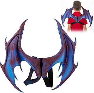 Dragon Wings Costume Wings, Halloween Dragon Costume Cosplay Wings Mardi Decorative Props Clothing Accessory Set for Hallo...