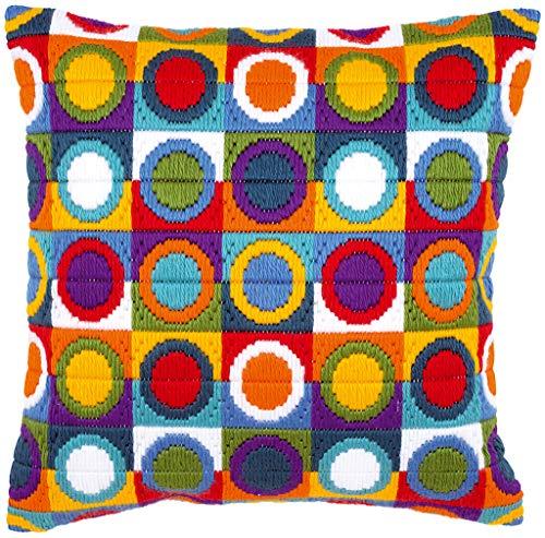 Vervaco Circles Long Stitch Cushion, Multi-Colour