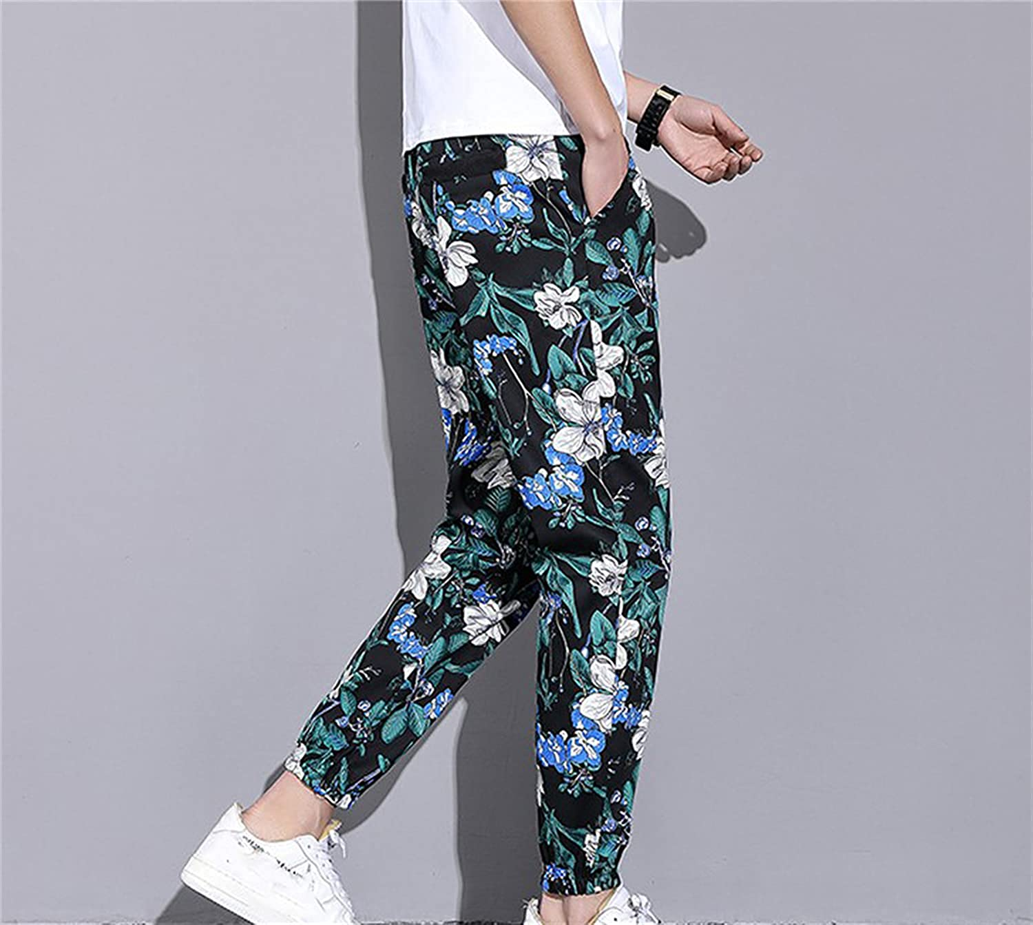 Max 40% OFF Men Novelty Graphic Colorful Portland Mall Printing and Flowers Leaves