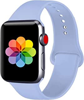 UPOLS Compatible with Apple Watch Band 38mm 42mm 40mm 44mm Sport Band, Silicone Sport Strap Replacement Bands Compatible for iWatch Series 5/4/3/2/1 S/M M/L