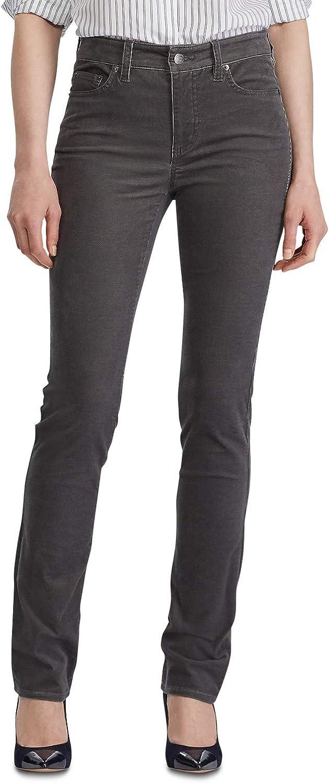 Ralph Lauren Womens Premier Casual Corduroy Pants, Grey, 10P