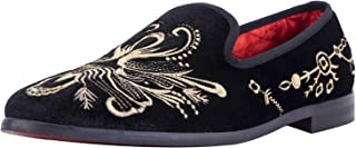 أحذية رجالي من ELANROMAN فاخرة سهلة الارتداء للحفلات الراقصة مقاس الولايات المتحدة 9. 5 أوروبي 43 قدم طول 290 ملم