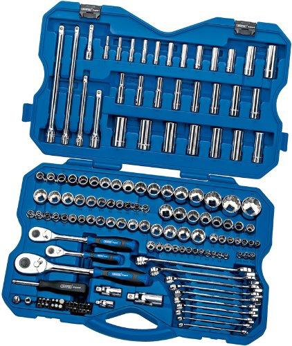Draper Expert 02365 Coffret d'outillage 150 pièces, carré conducteur de 6,35, 9,52 et 12,7 mm