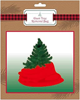 Christmas Tree Removal and Storage Bags, Large 96 x 47 in Plastic Disposable Bag for Seasonal Decorations (Single Red)