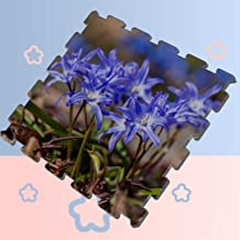 Baby Play Mat Soft and Comfortable Waterproof Blue Flowers Chionodoxa Luciliae Glory Snow Puzzle Mat Kid's Puzzle Exercise Play Mat Health and Envir