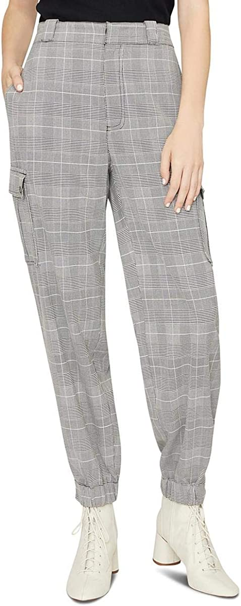 Sanctuary Womens The Commander Houndstooth Cargo Casual Pants