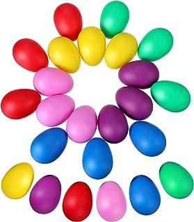 24 Piezas de Huevos de Maracas Juego de Shaker de Huevo de Plástico Musical para Materiales de Fiesta de Niños Juguetes Musicales, 6 Colores