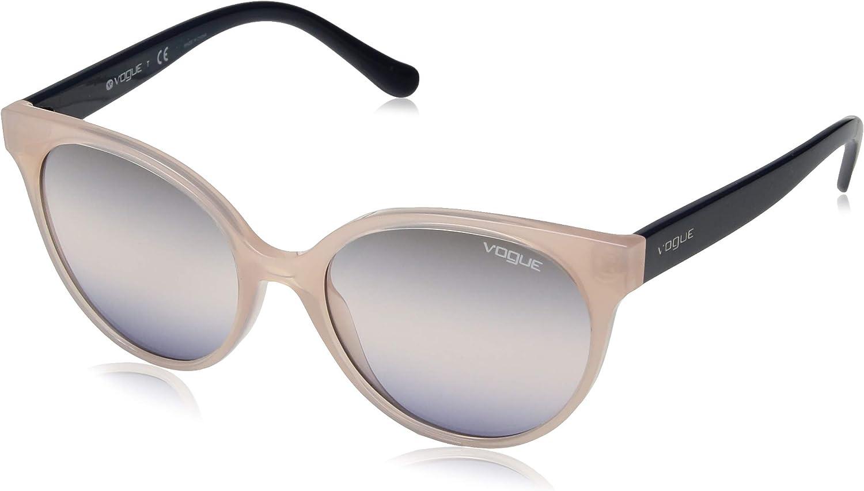 VOGUE Women's 0vo5246s Round Sunglasses opal light pink serigrapny 53.0 mm