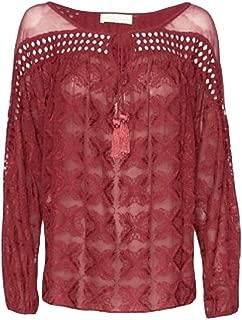 Love Sam Burgundy Crochet Blouse L