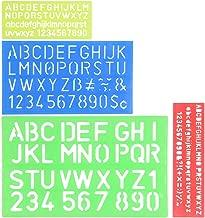 Juego de 4 plantillas de n/úmeros y letras regla de pl/ástico blando multifuncional regla de manualidades decorativa regla de plantilla de alfabeto
