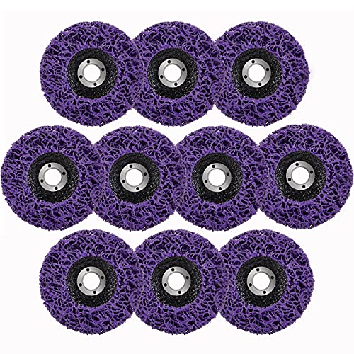 10 Pack Strip Discs Rust Remover Wheel Paint Removal Disc for Angle Grinder Clean Paint, Rust Welds, Oxidation (4-1/2'' x 7/8'')