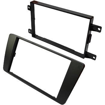 Mascherina telaio adattatore 2DIN copertura in plastica stampata per il cambio sostituzione dellautoradio originale con un radio standard per veicoli automobile AERZETIX