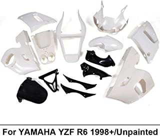 Motorcycle White Unpainted ABS Plastic Fairing Cowl Bodywork Set Fit For YAMAHA YZF R6 YZF-R6 1998 1999 2000 2001 2002