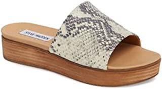 a34d1b34595 Steve Madden Womens Genca Leather Open Toe Casual Slide Sandals