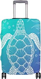 Marine Turtles Animal Sea Turtle Luggage Tag Label Travel Bag Label With Privacy Cover Luggage Tag Leather Personalized Suitcase Tag Travel Accessories