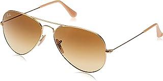 نظارات شمسية كلاسيكية باطار افياتور للجنسين من راي بان - لون ذهبي - مقاس 58 ملم