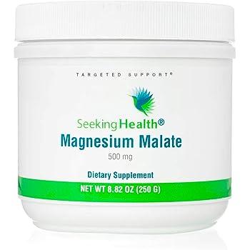 Seeking Health Magnesium Malate Powder - Provides 500 mg of Magnesium Malate as Dimagnesium Malate Per Serving – Magnesium Powder for Men – 100 Servings