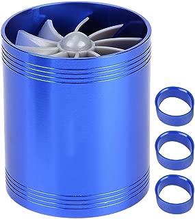 Suuonee Air Intake Turbonator, Car Dual Fan Turbine Super Charger Gas Fuel Saver Turbo (Blue)