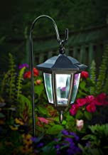 MAGGIFT Hanging Solar Lights Outdoor, Hanging Light with Shepherd Hook and Stake Light in Mixing for Pathway Garden Yard Lawn Holiday Decorations, Set of 2