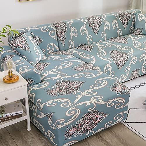 Funda para sofa de 2 asientos con funda de almohada,fundas de sofa elasticas para 1 2 3 4 plazas,funda de sofá seccional en forma de L para perros mascotas niños,fundas de sofá protectoras de muebl