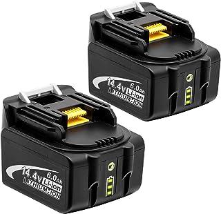 Endro マキタ14.4vバッテリーbl1460b マキタ互換バッテリーマキタ14.4v 6.0Ah バッテリー マキタ バッテリーBL1460B BL1430 BL1440 BL1450 BL1460 対応 LED残量表示付き 二個セット