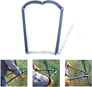 Chain Fence Strainer Fence Energiser Repair Tool -Barn Farm Fence Stretcher Tensioner Puller Manual Patch Garden Fence Fixer Heavy Duty Fence Plain Barbed Wire Strainer 47.25'' 1 Pack