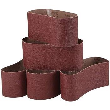 """320 400 600 Grit 3/"""" x 21/"""" Aluminum Oxide Sanding Belt Fine Kit 2 each 6 PACK"""