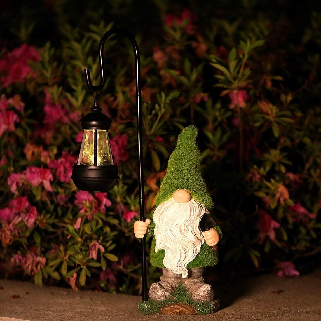 CTgift Flocked cheap Garden Gnome Statue Large-scale sale Figurines with Solar P