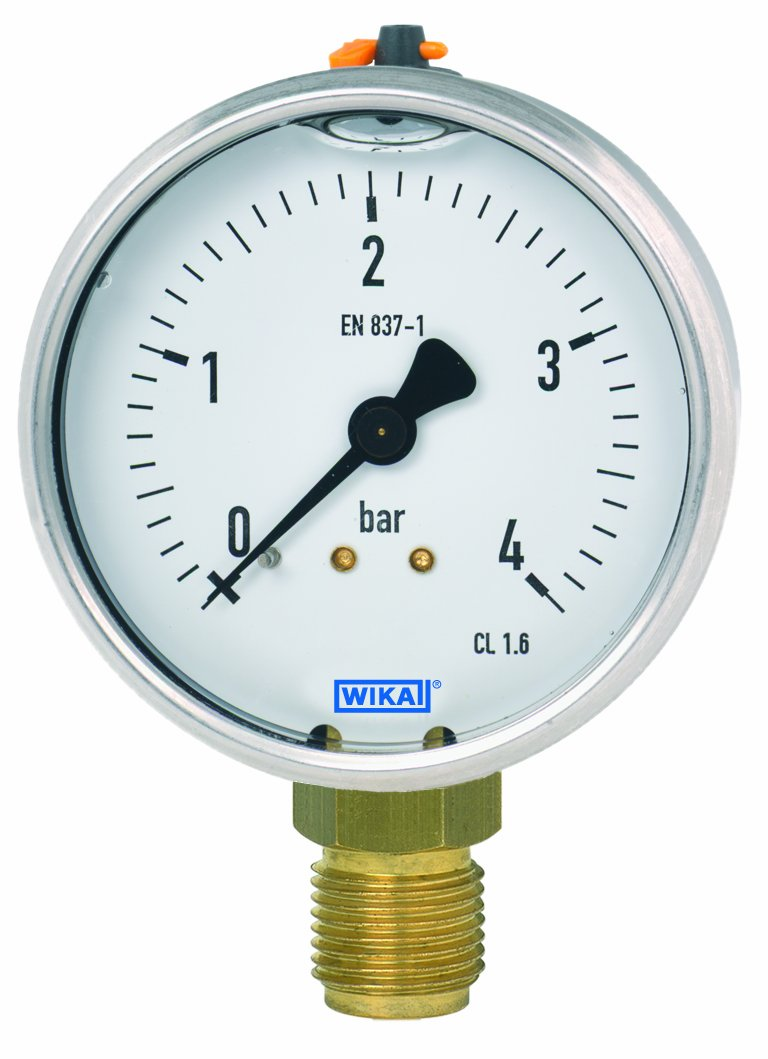 WIKA 50702441 Commercial Pressure Ranking Max 53% OFF TOP10 Gauge A Copper Liquid-Filled