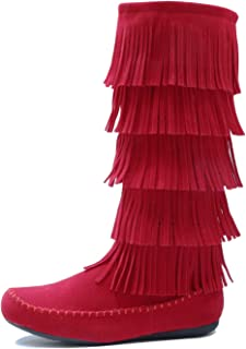 Best red suede fringe boots Reviews