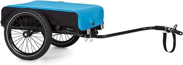 KlarfitCompanion Remolque para bicicleta- Marco de acero, Recubrimiento de polvo, Neumáticos de 16