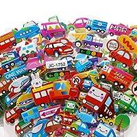 10シート/ロット車輸送3DバブルステッカースクラップブックPVC DIYの子供のための子供の教育ギフト報酬ステッカー