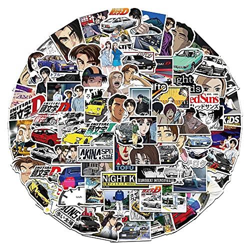 DSSK 100 Pezzi Adesivi Personalizzati dei Cartoni Animati, iniziali D, Adesivi Anime, Graffiti, Bagagli, Valigia Trolley, Laptop, Cellulare, Skateboard, Adesivi Impermeabili