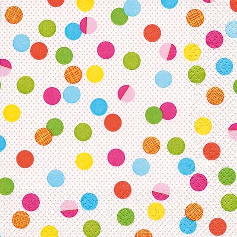 20 Servietten Bunte Partypunkte/gepunktet/Muster/zeitlos 33x33cm